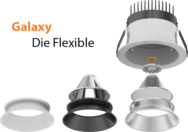 LED Downlight Serie Galaxy COB austauschbar