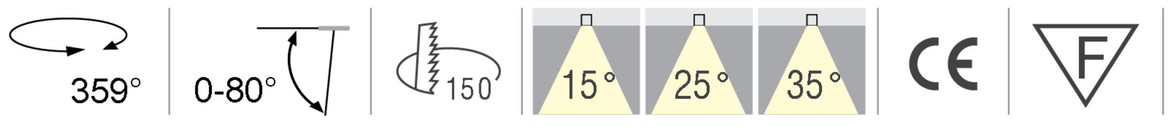 LED Deckeneinbauleuchte T6