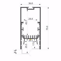 ALU-LLP-CL01-06-S3  36x75mm