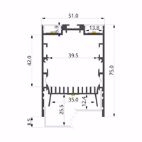 ALU-LLP-CL02-07-S2  50x75mm