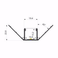 ALU-LLP-DW02-03-S2  20x22mm