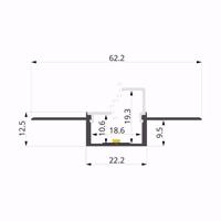 ALU-LLP-DW07-01-W2  62x13mm