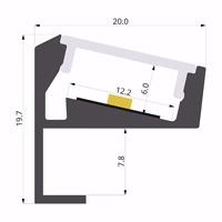 ALU-LLP-SH01-03-S2  20x20mm