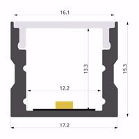 ALU-LLP-SL05-03-S2  17x15mm