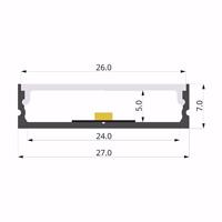 ALU-LLP-SL07-05-S2  27x7mm