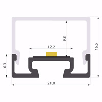ALU-LLP-SL11-01-S2  21x17mm