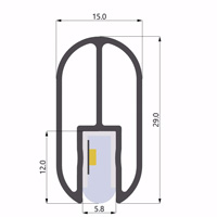 ALU-LLP-WB01-00-S2  15x29mm