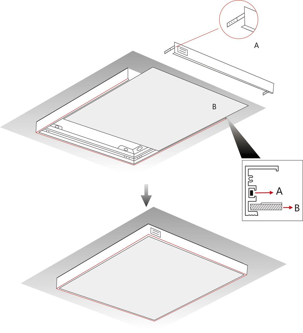 Anbaurahmen für LED Panel Mero