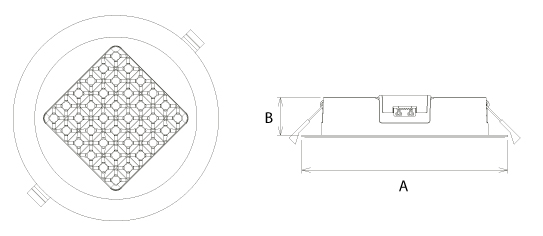 Arach R DOB LED Downlight SML Abmessung