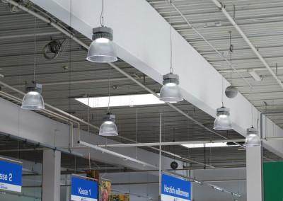 LED Pendelleuchte Aura im Supermarkt