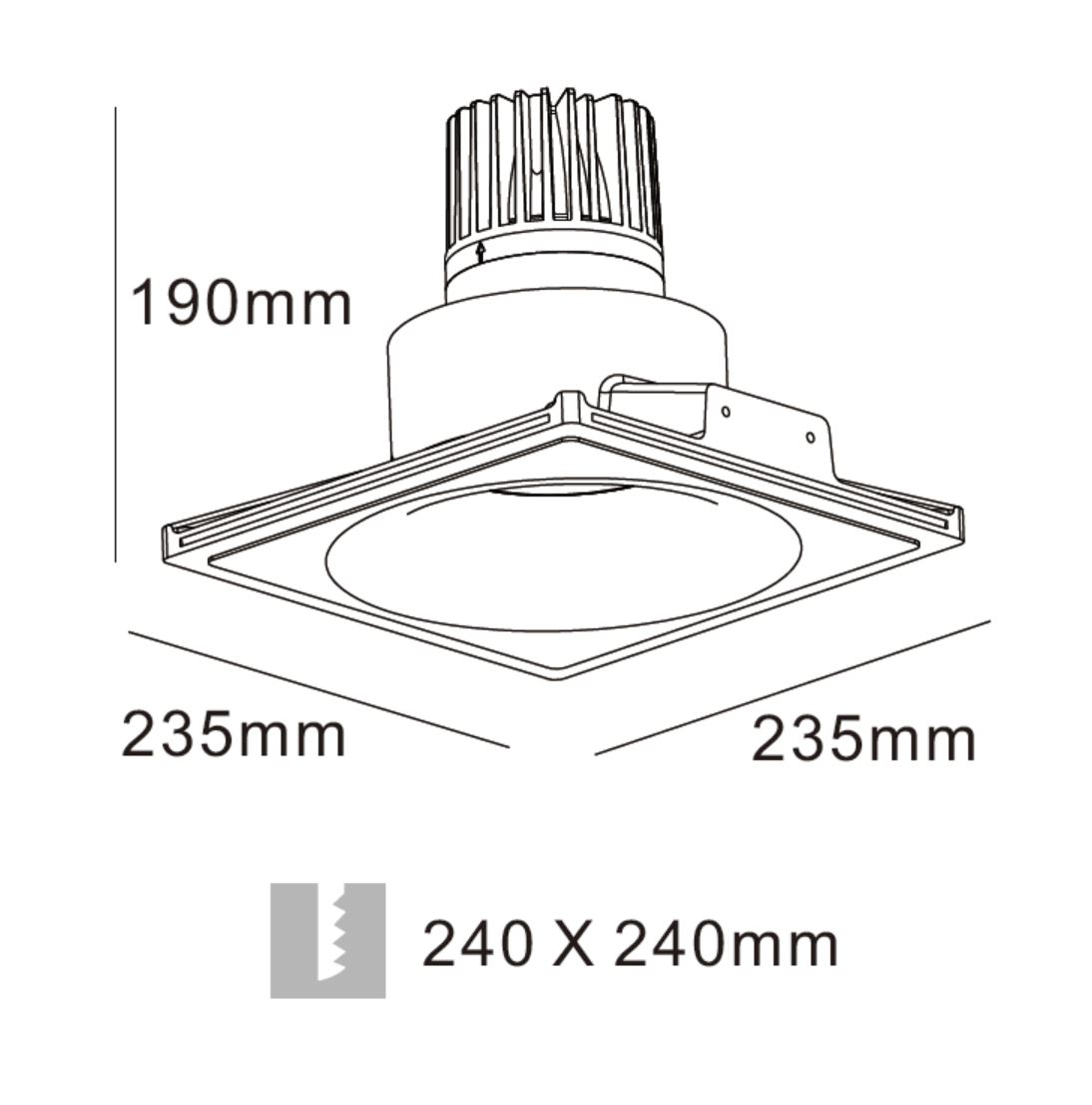 LED Gipskarton Downlight Dip