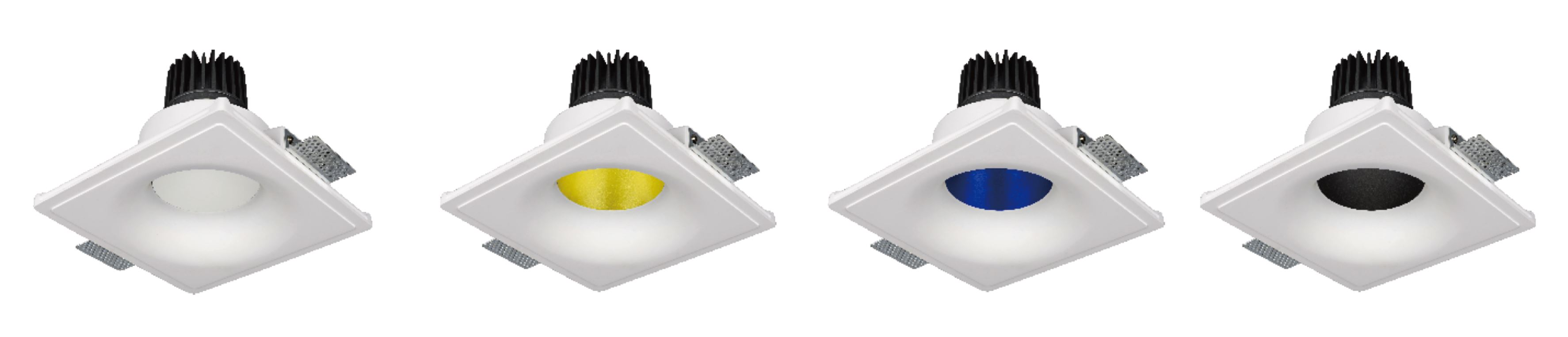 Dip Gibskarton LED Downlight Farben