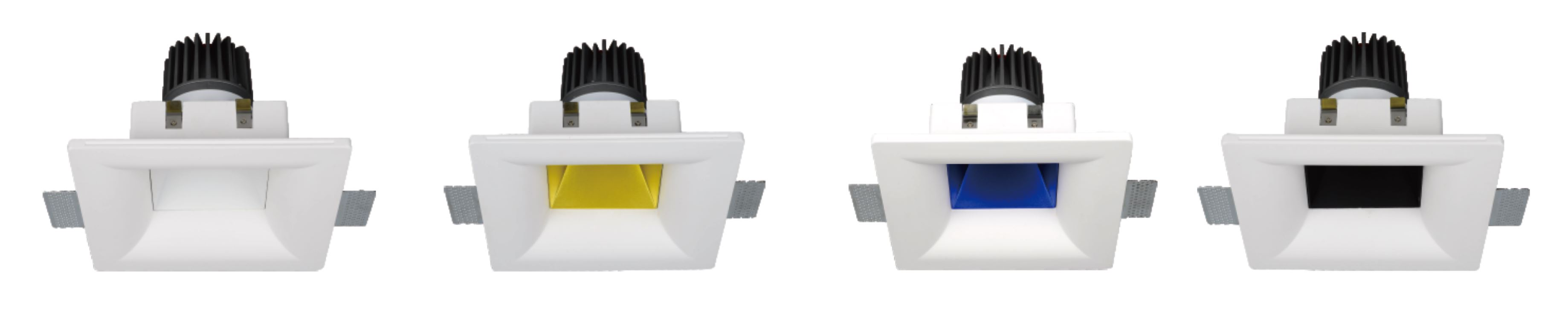 Dip-S Gibskarton LED Downlight Farben
