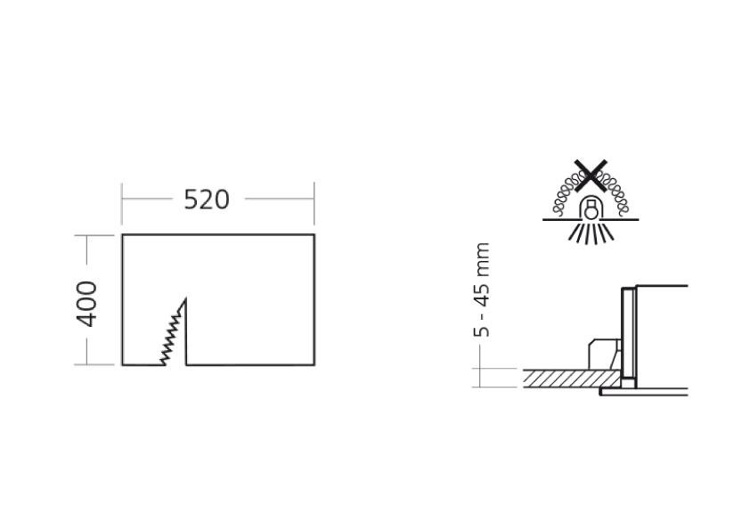 LED Tankstellenleuchte Dros Abmessungen