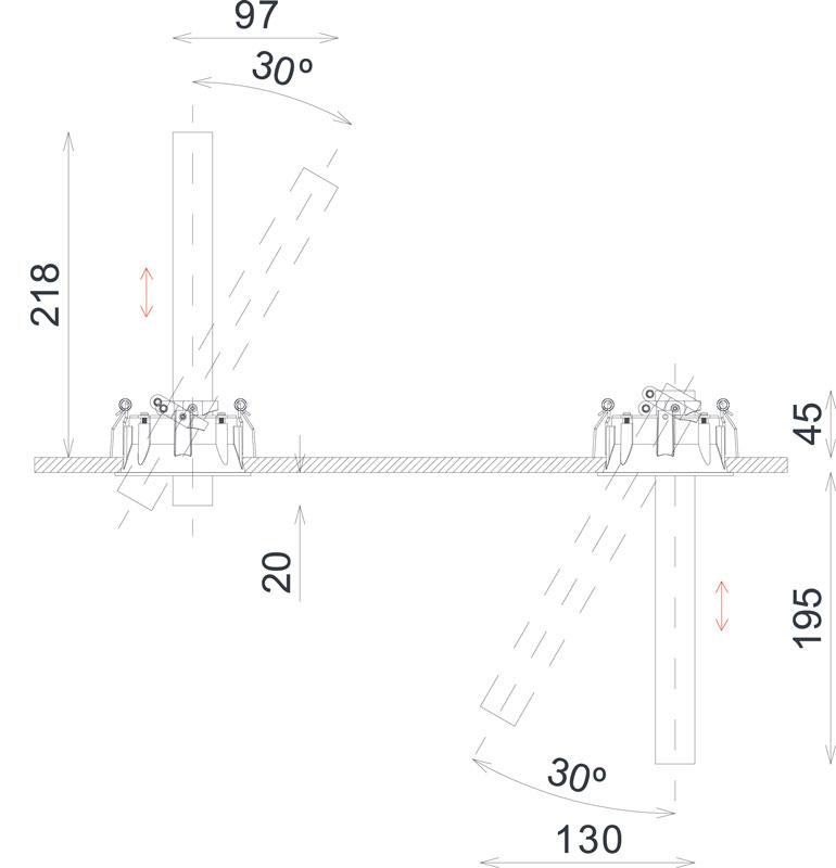 Abmessungen Trimless LED Design Stableuchte