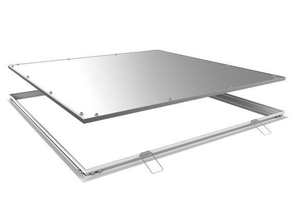 Einbaurahmen Gipskartondecke LED Panel als Revisionsöffnung