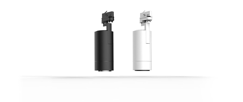 LED Stromschienenstrahler Flex drehbar schwarz weiss