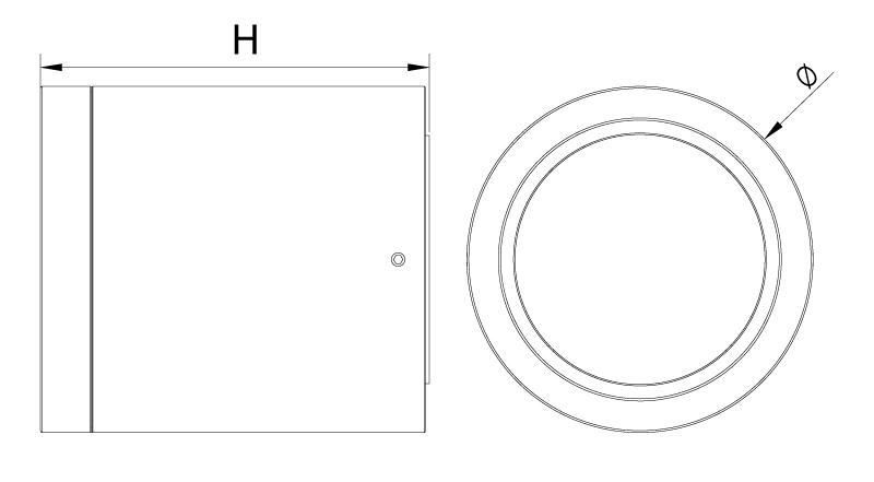 Abmessung LED Anbauleuchte Izar IP54 von SML