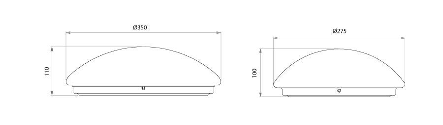 LED Deckenleuchte Milo Abmessungen