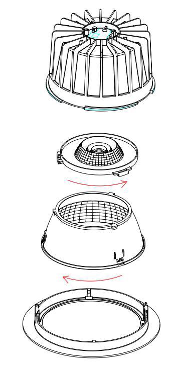 LED Downlight Xela von smart mit led gmbh austauschbare Linsen