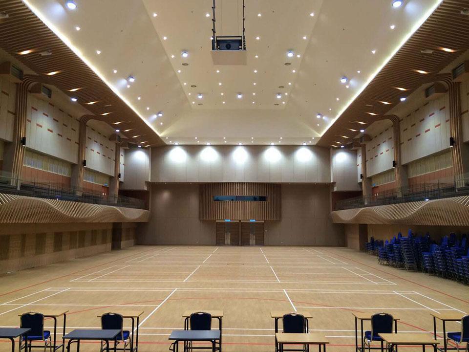 LED Hallenleuchte Referenzeinsatz in Hallen und Lager und Produktion und Veranstaltung