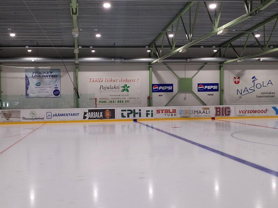 LED Hallenleuchte Eisstadion Referenzeinsatz in Hallen und Lager und Produktion