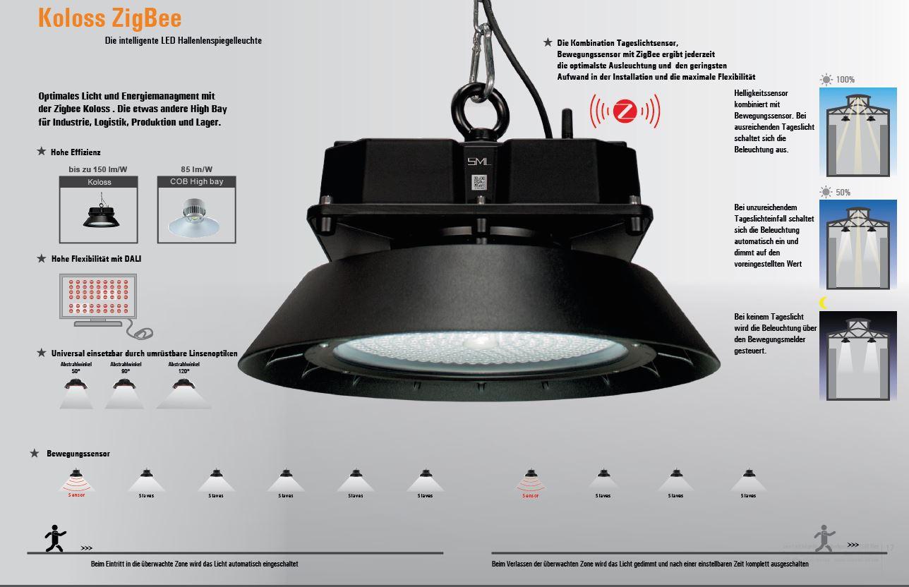 LED Hallenleuchte Koloss mit ZigBee Steuerung