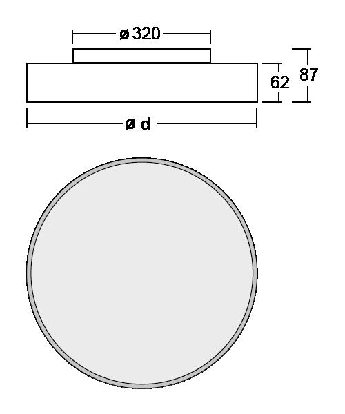 SML LED Anbauleuchte RUN Abmessung
