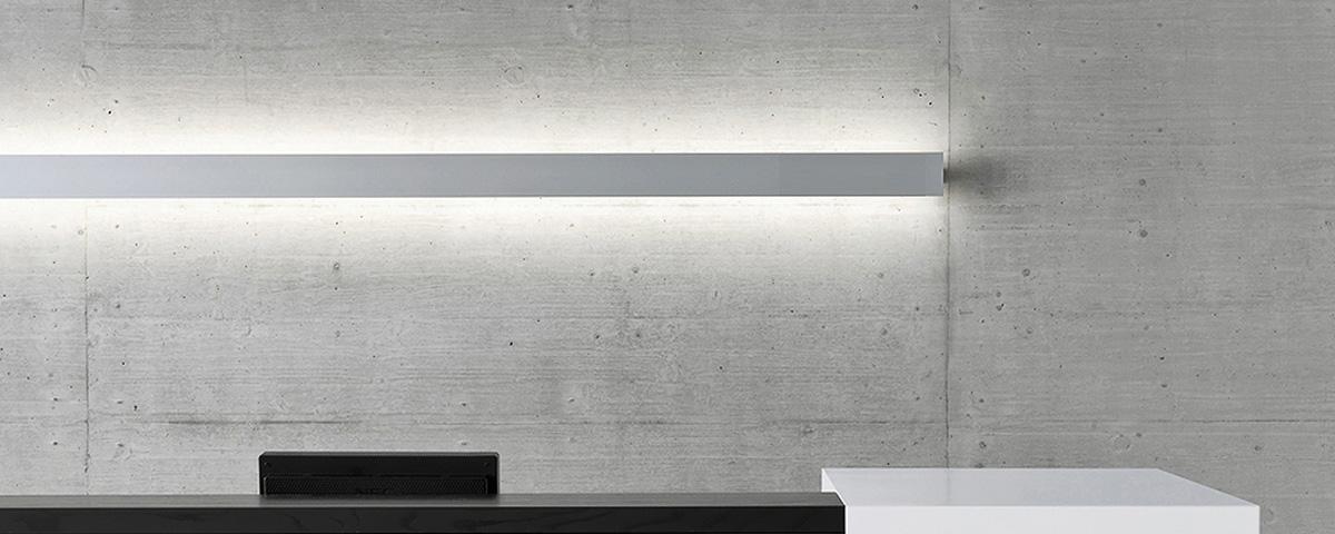 LED Lichtband Wandleuchte LineW Empfang