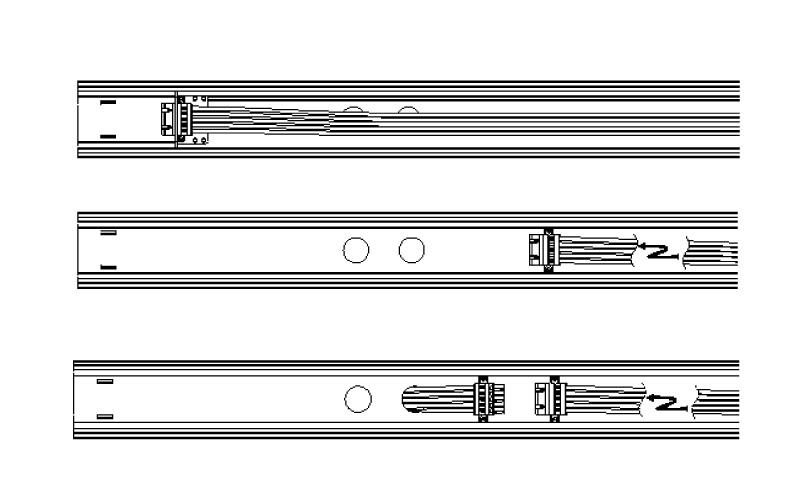 LED Lichtbandsystem Kabeleinspeisung Detail