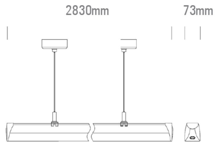 LED Lichtbandsystem das Leuchtenmodul 3000