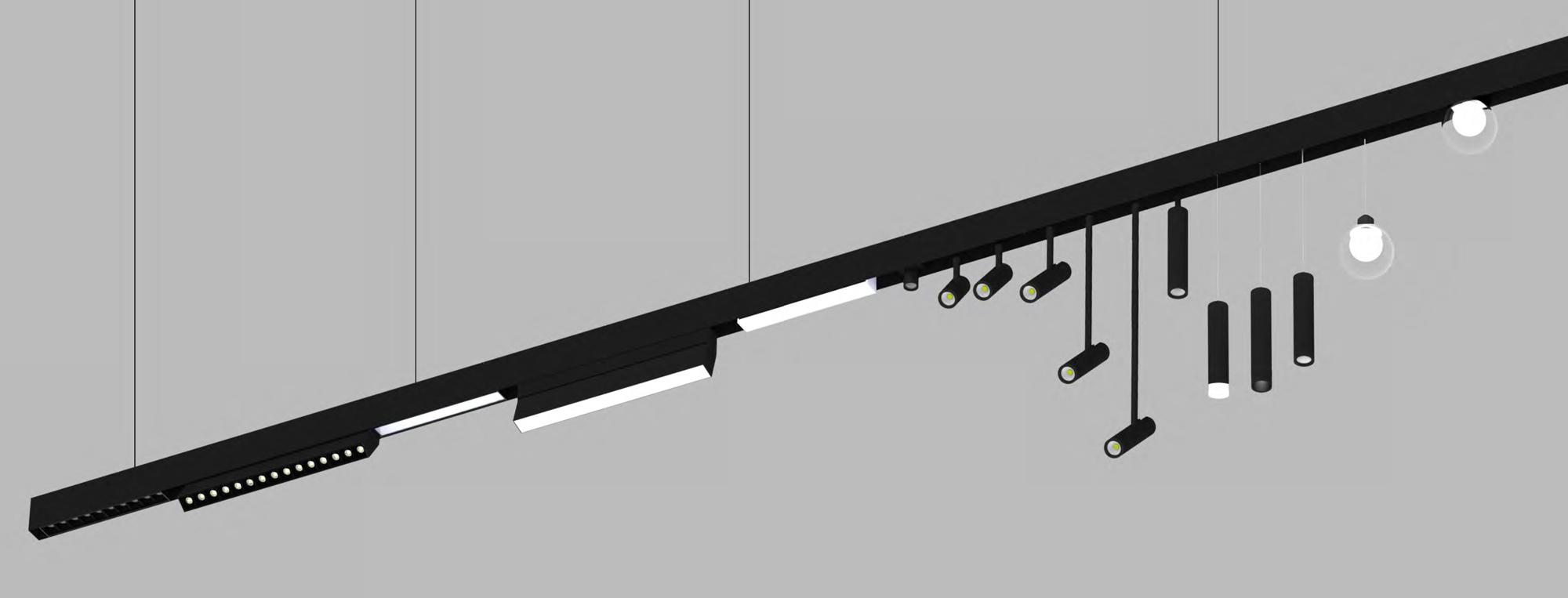 LED Lichtbandsystem Magneta mit magnetischen Lichteinsätzen