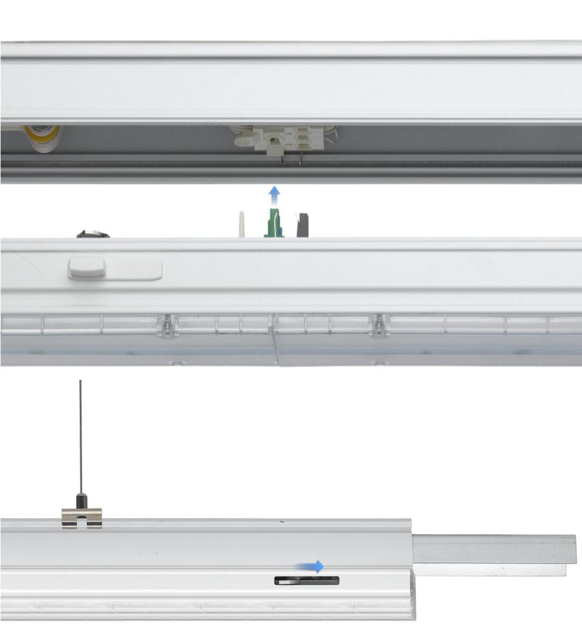 LED Lichtbandsystem Montage Leuchtenmodul