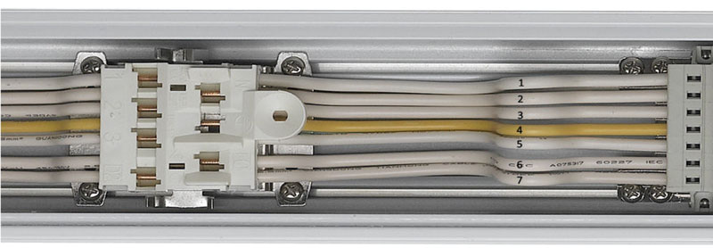 LED Lichtbandsystem Tragschiene 7 polig