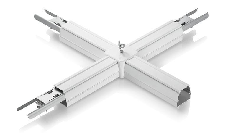 LED Lichtbandsystem Tragschiene Verbinder Kreuz