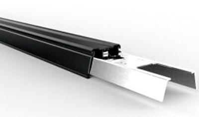 LED Lichtbandsystem Tragschiene schwarz