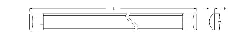 Abmessung LED Lichtleiste von SML