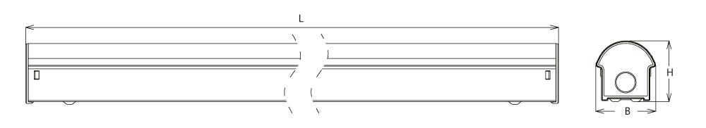 LED Lichtleiste DB08 von SML Abmessungen