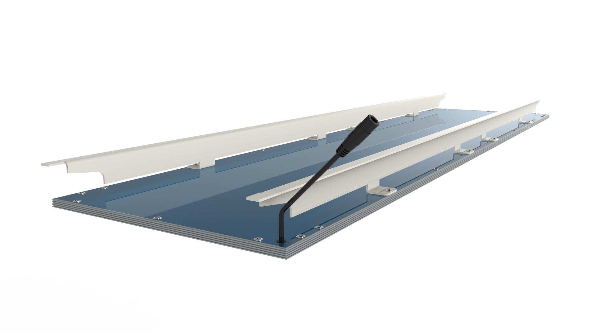 LED Panel Bandraster Metalldecke