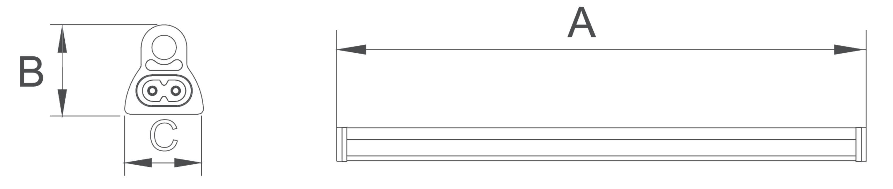 LED Röhre T5 integrierter Driver Abmessungen