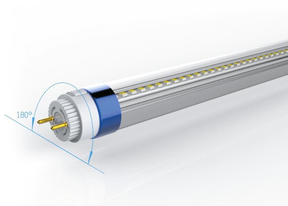 LED Röhre T8 115lm/Watt drehbare Verschlüsse