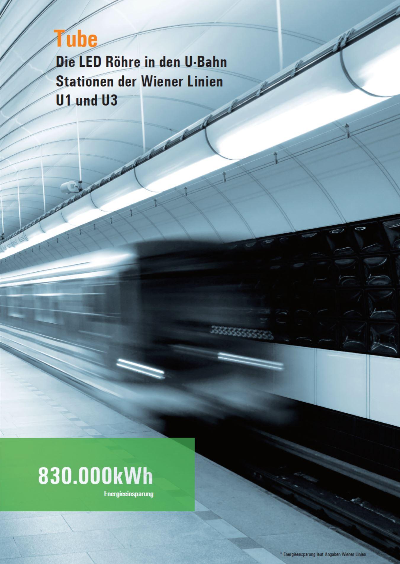 Tausch von Leuchstofflampen auf LED Röhren der U-Bahn Station Wiener Linien