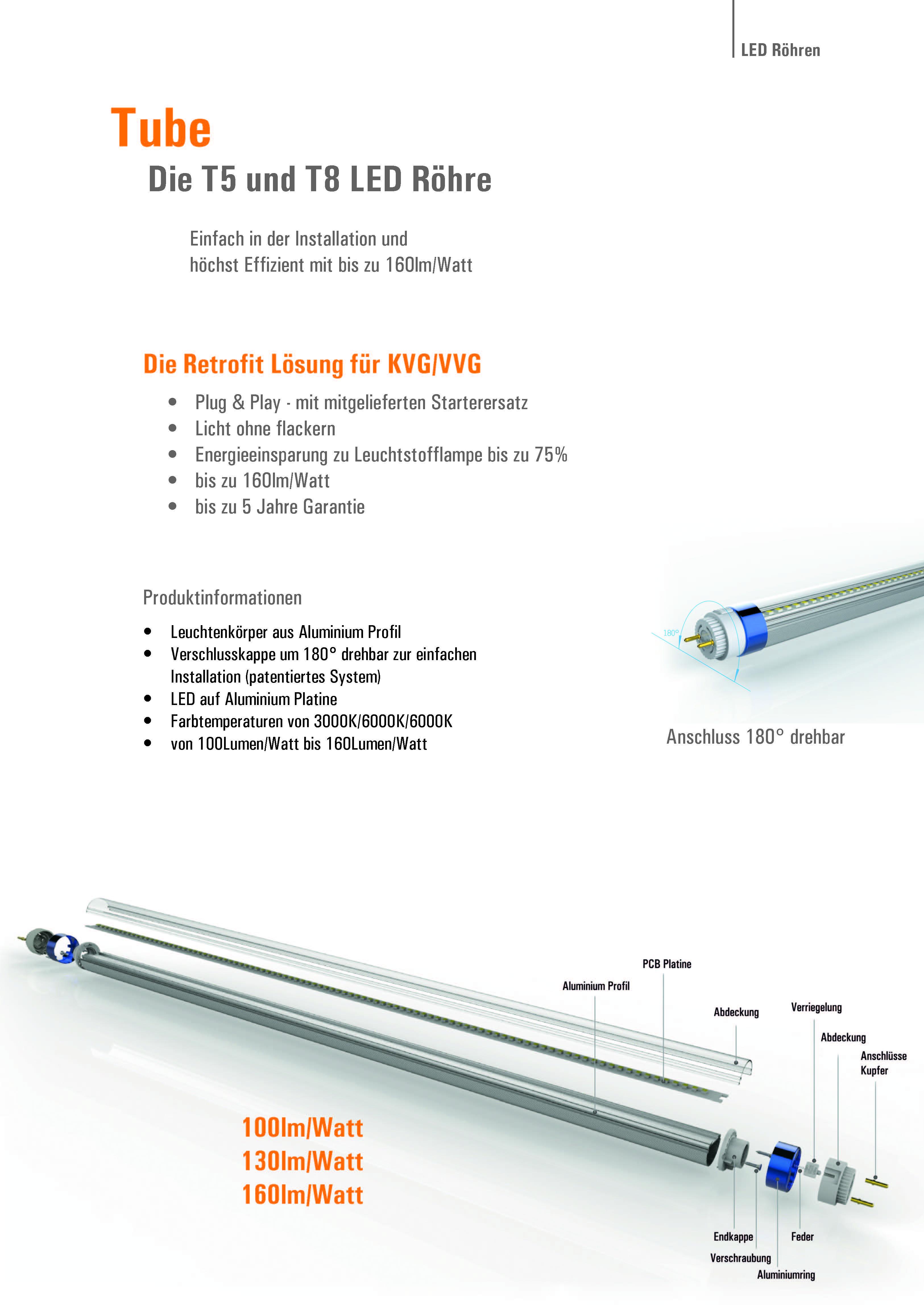 LED Röhren T8 und LED Röhren T5 von SML