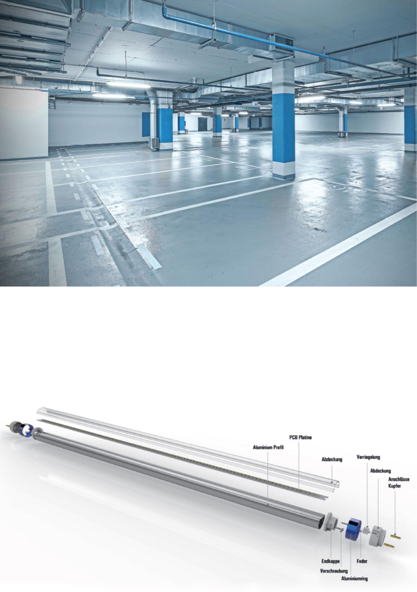 LED Röhren Tiefgarage und Parkhaus Wirtschaftlichtkeitsberechnung Energieeinsparung