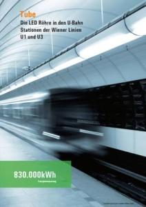 LED Röhre in U-Bahn Stationen der Wiener Linien