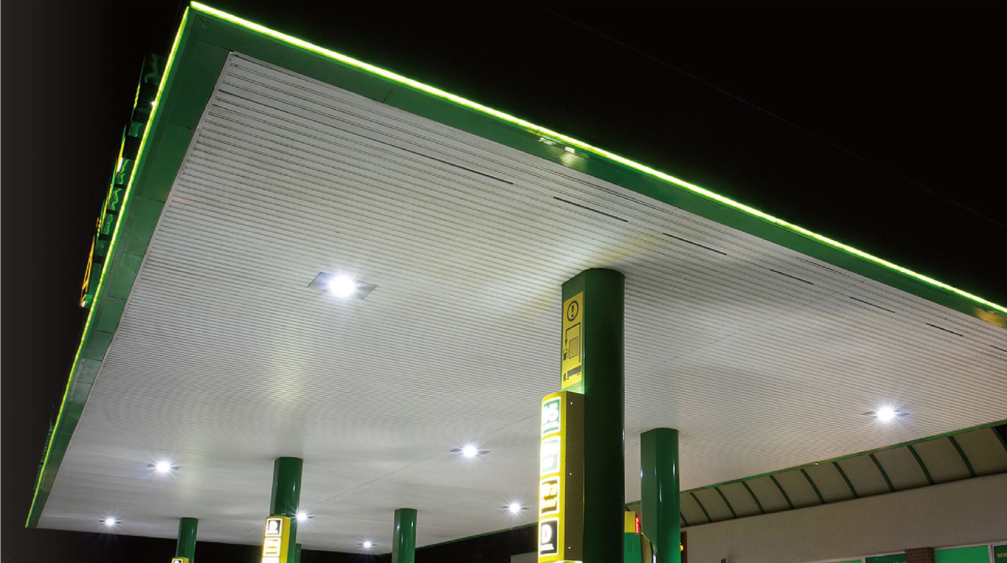 LED Tankstellenleuchte Petrol Tankstellenbeleuchtung