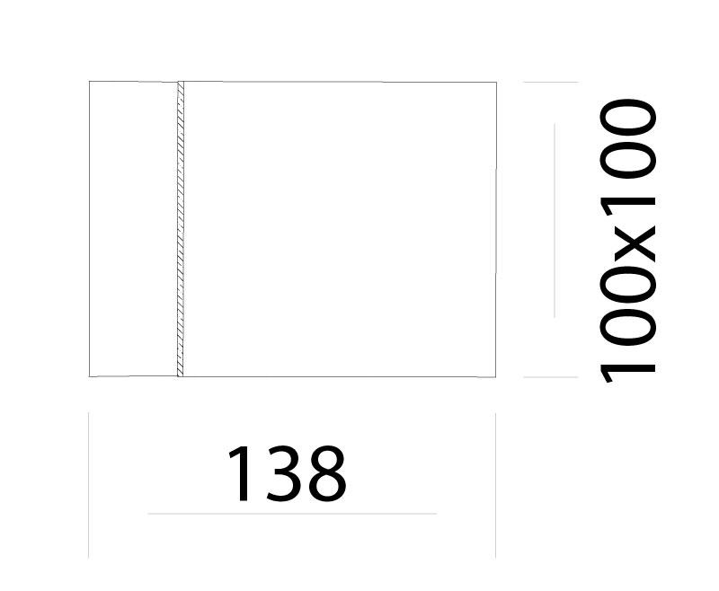 Cube LED Wandleuchte IP65 Fassadenbeleuchtung Abmessungen