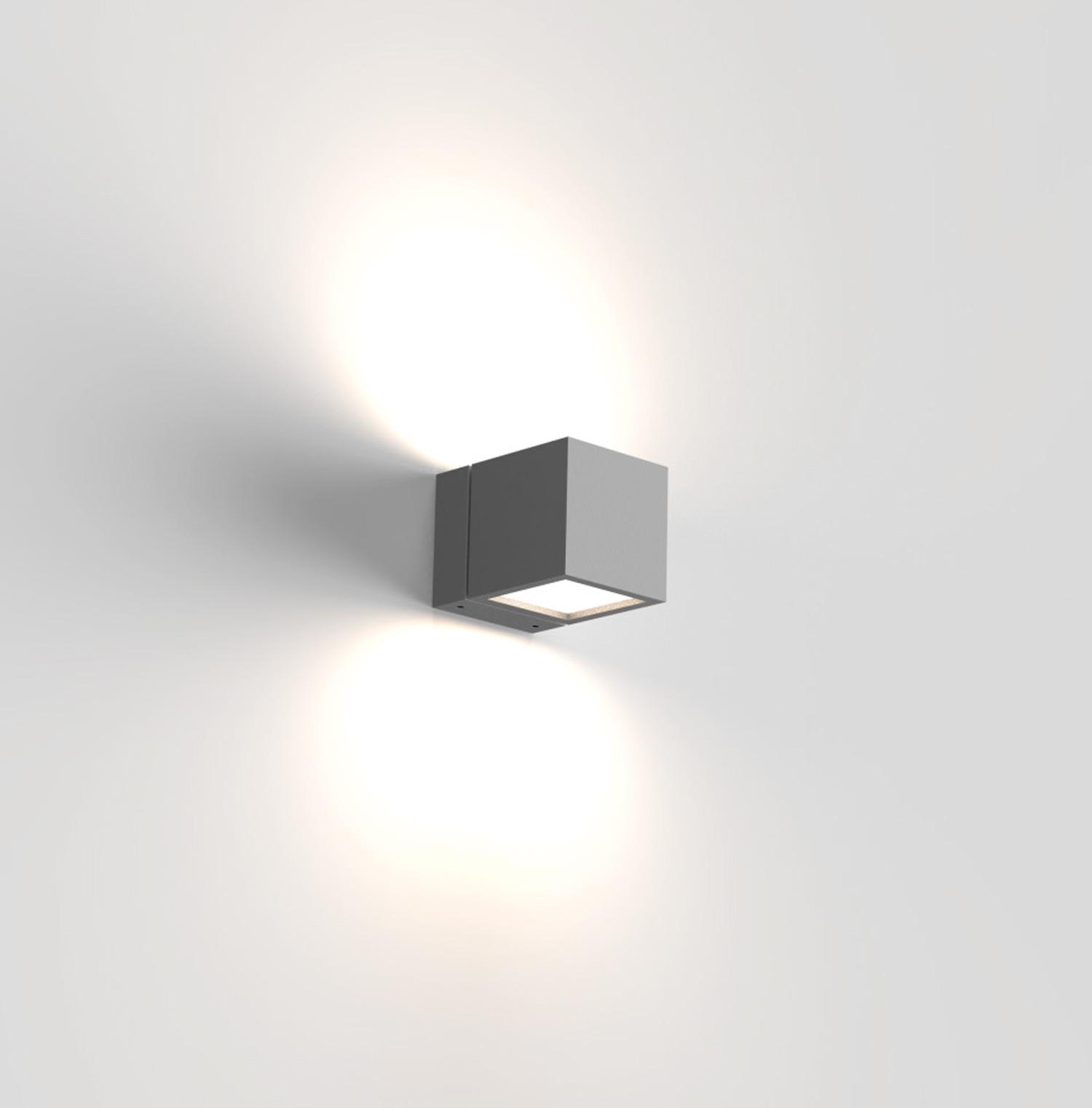 Cube LED Wandleuchte beidseitig strahlend Fassadenbeleuchtung
