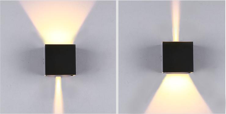 Shine LED Wandleuchte Abstrahlwinkel beidseitig