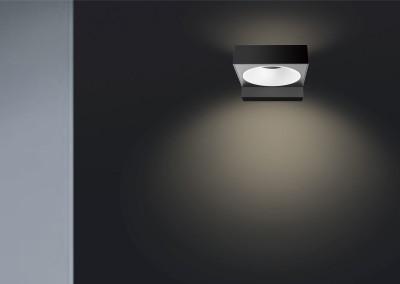 LED Wandleuchte Vest quadratisch Anwendung